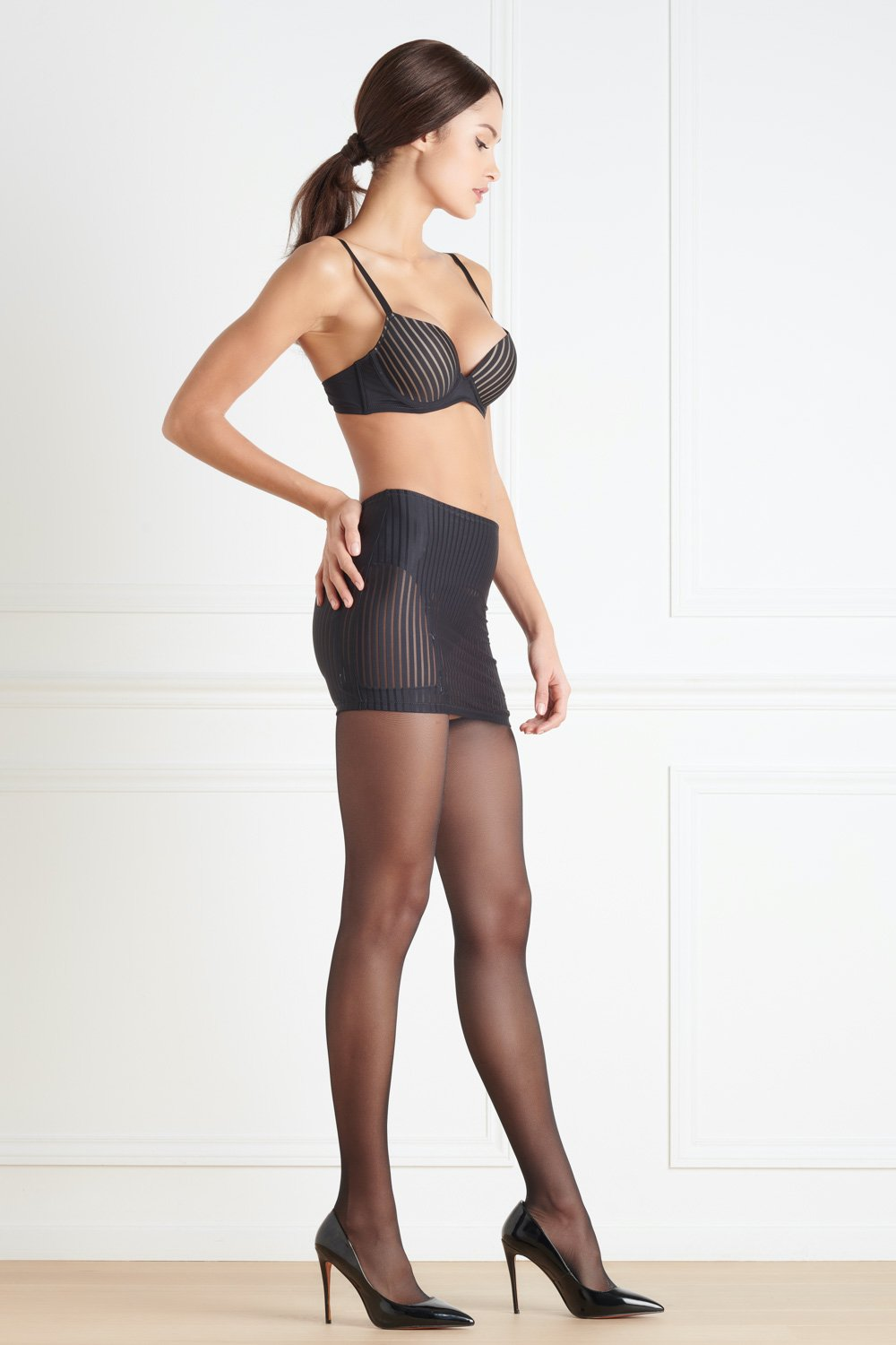 Maison Close Bande à Part Skirt with Suspenders - The Hosiery Box