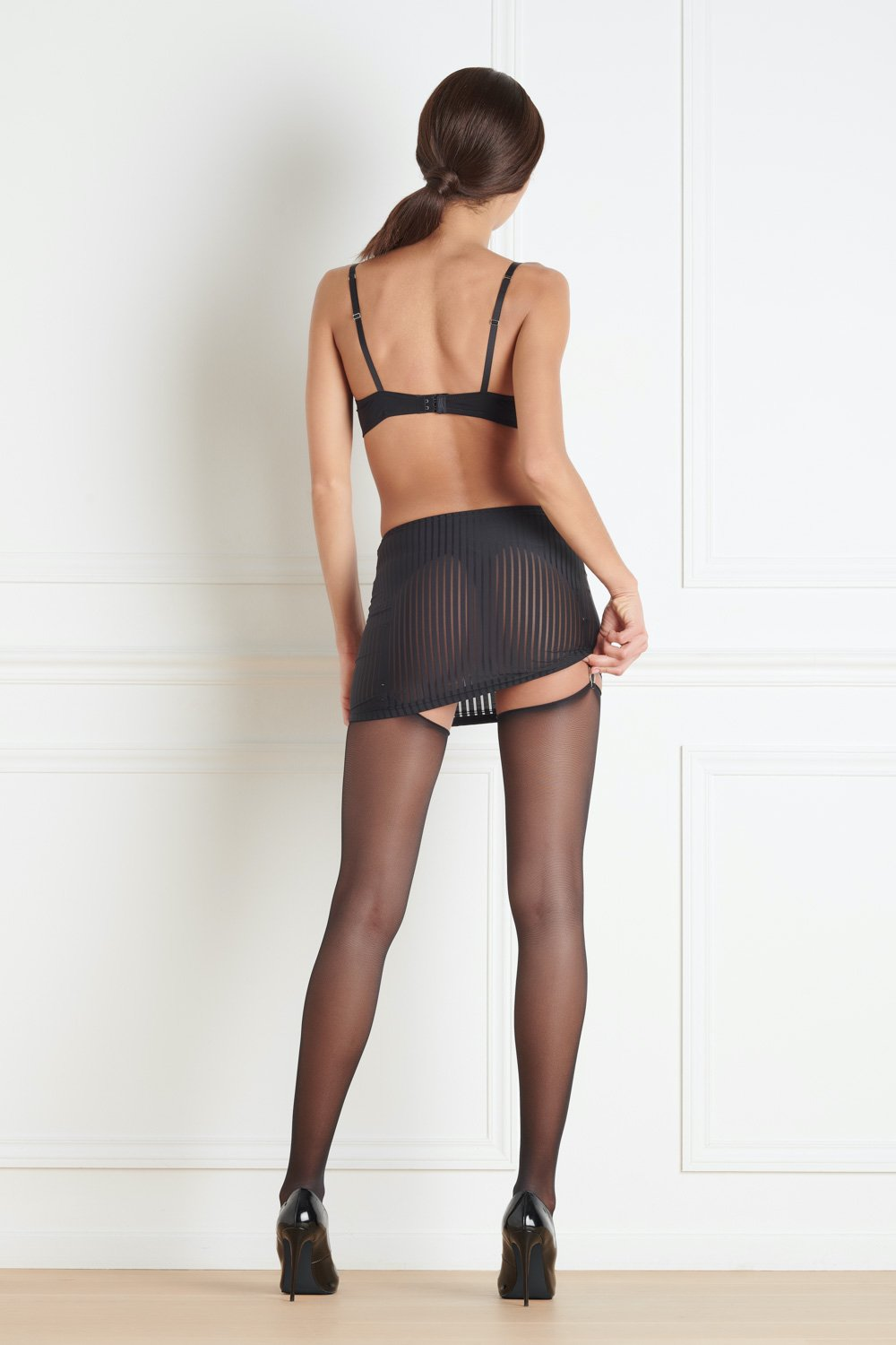 Maison Close Bande à Part Skirt with Suspenders