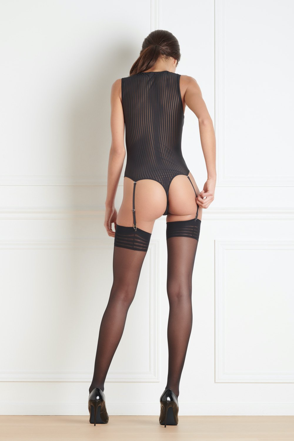 Maison Close Bande à Part Sleeveless Thong Body with Suspenders
