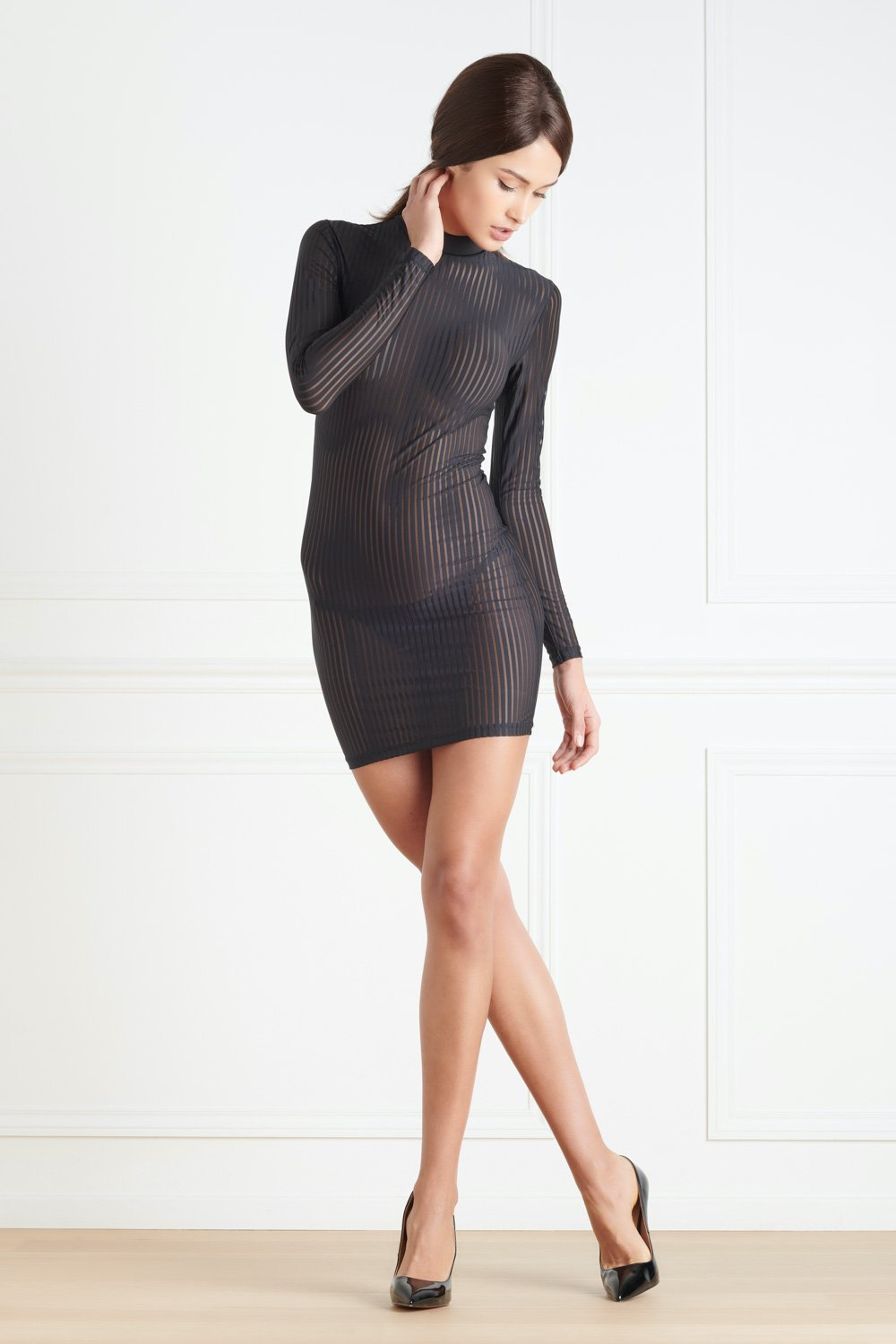 Maison Close Bande à Part Long Sleeved Dress - The Hosiery Box