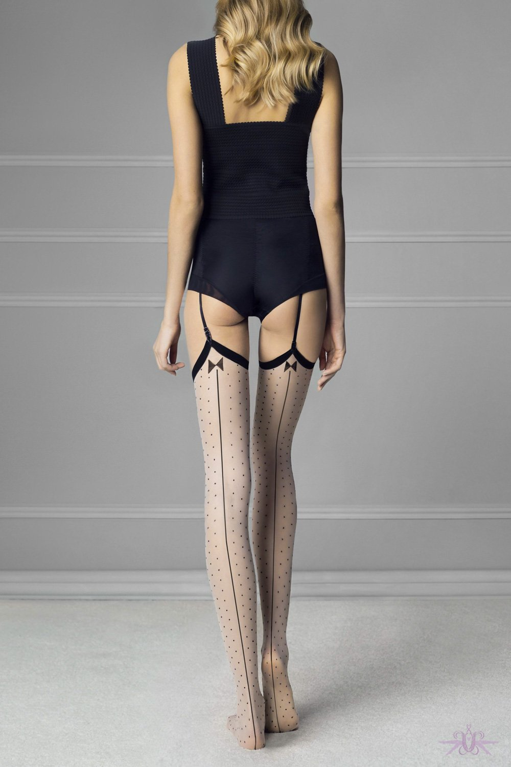 Fiore Gossip Spotted Stockings