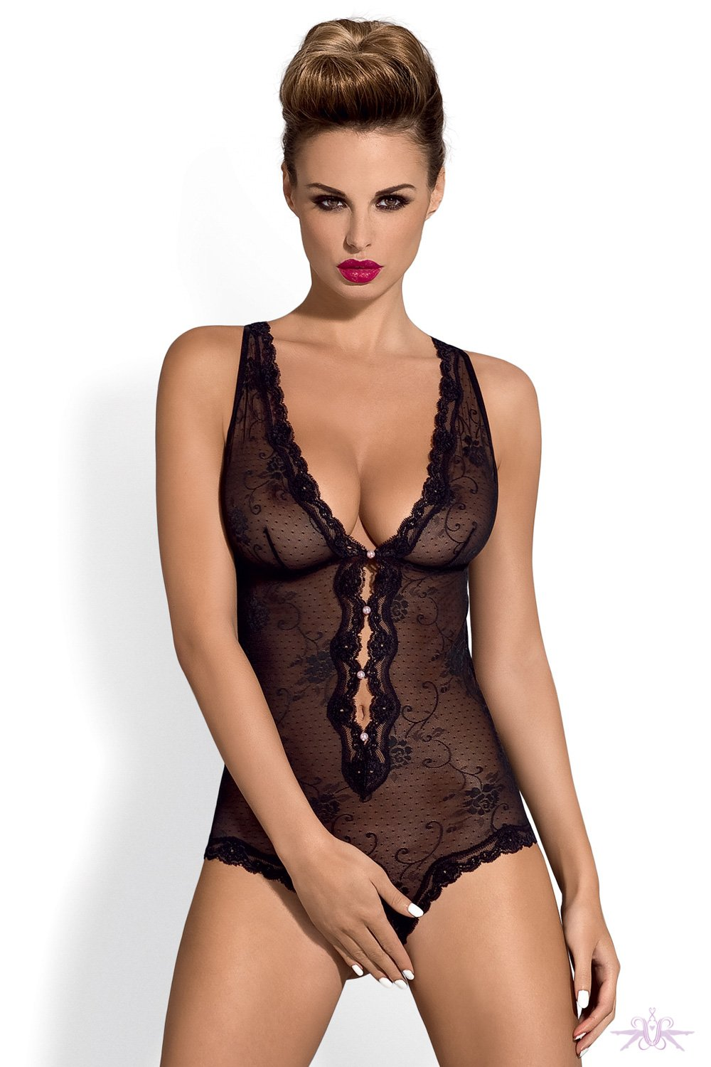Obsessive Fiorenta Crotchless Bodysuit