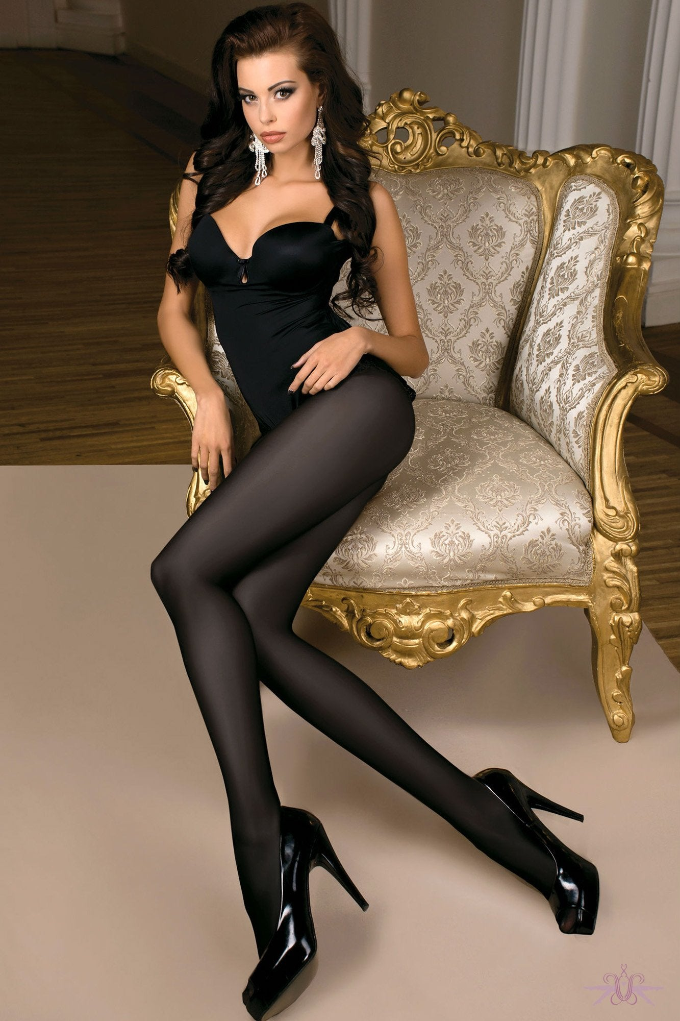 Ballerina Black Opaque Tights - The Hosiery Box