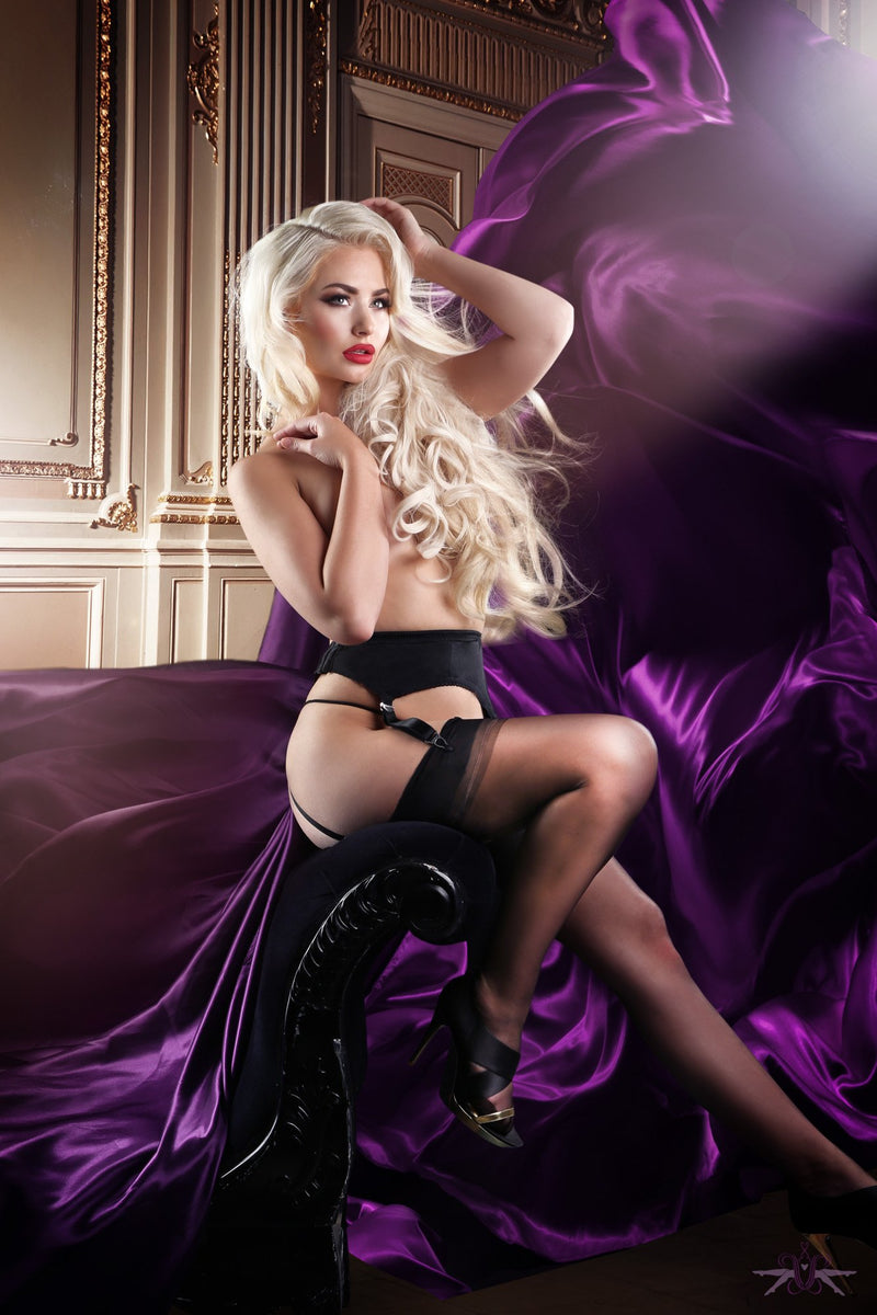Mayfair Claudine 4 Strap Suspender Belt - The Hosiery Box
