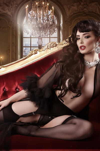 Mayfair Sofia Black Stockings - The Hosiery Box