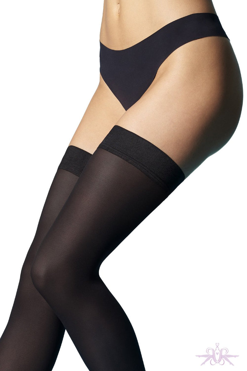 Le Bourget Microfibre 50D Hold Ups - The Hosiery Box