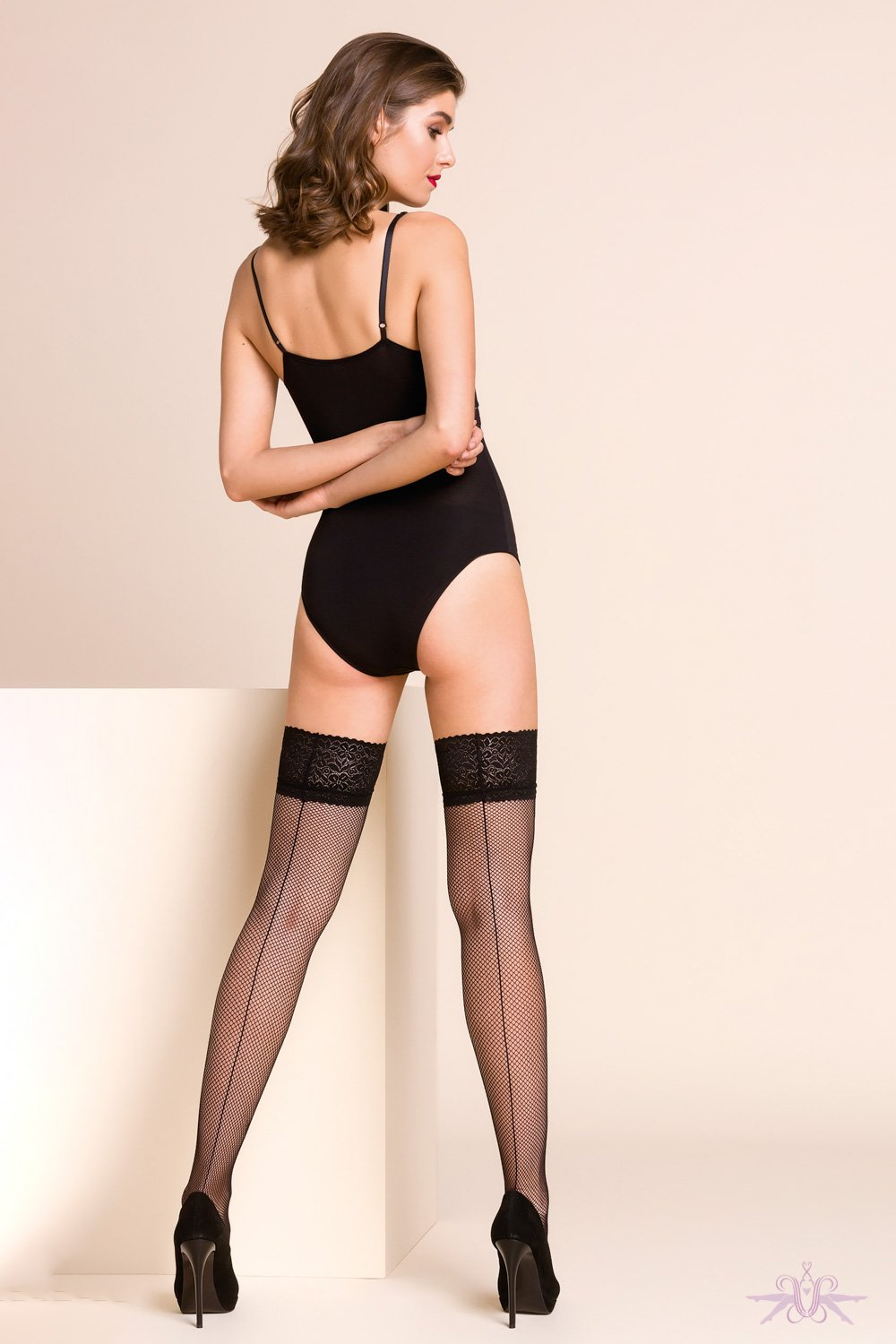Gabriella Kabarette Seamed Fishnet Hold Ups