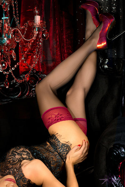 Ballerina Phoenix Hold Ups - The Hosiery Box