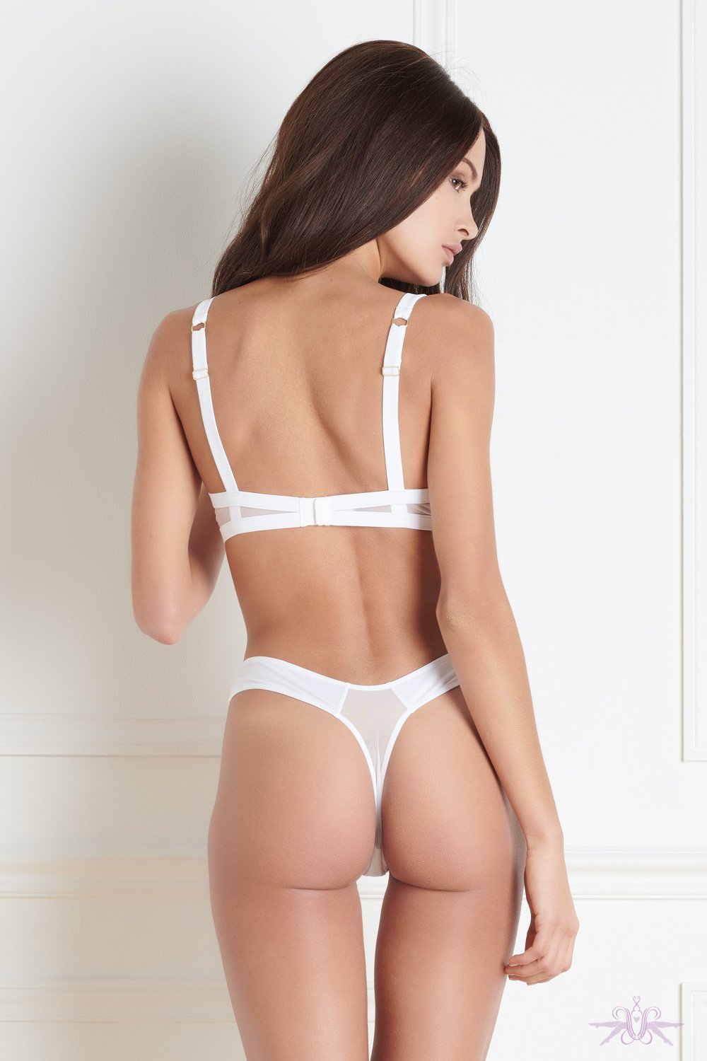 Maison Close Pure Tentation White High Thong
