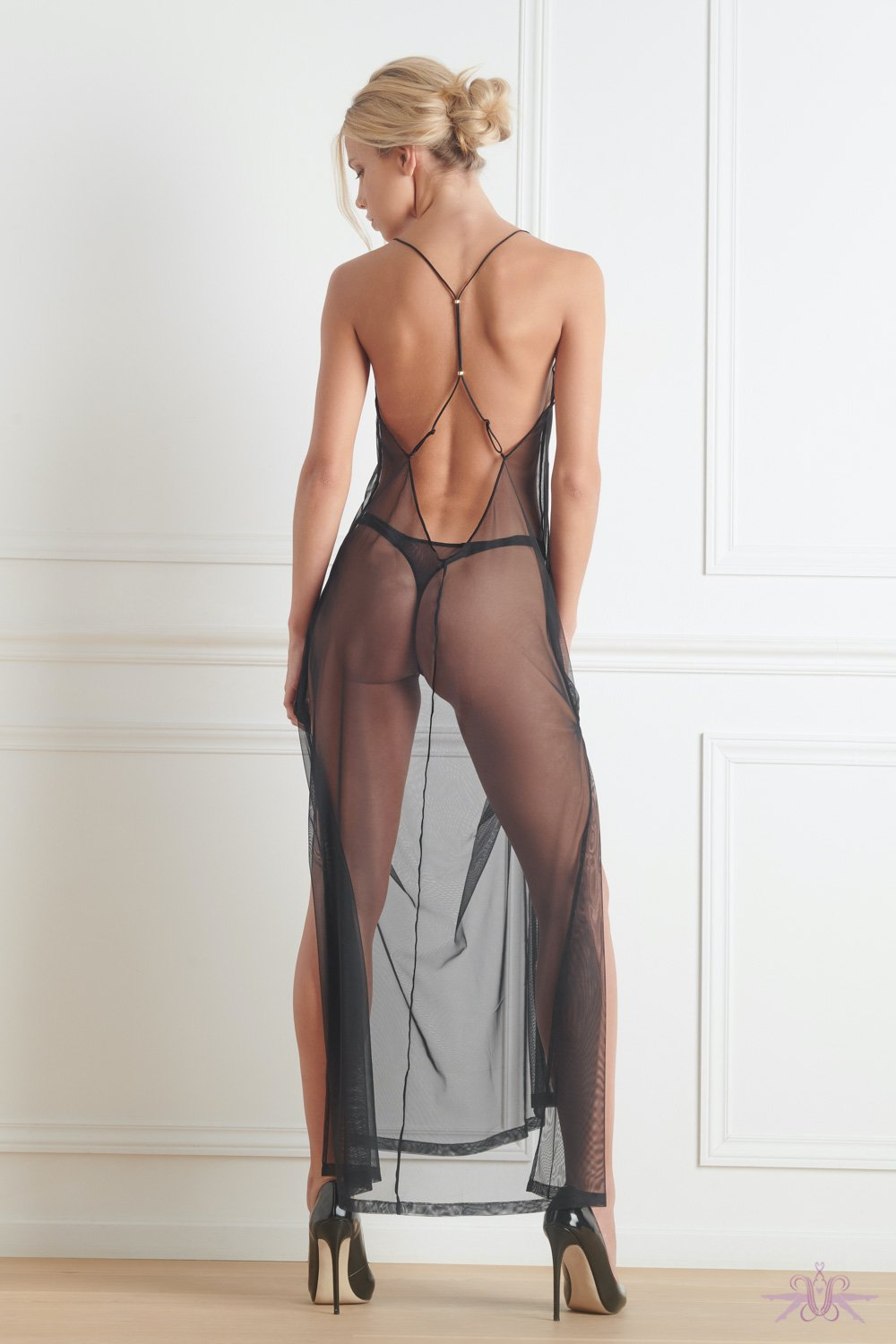 Maison Close Madame Reve Long Sheer Dress