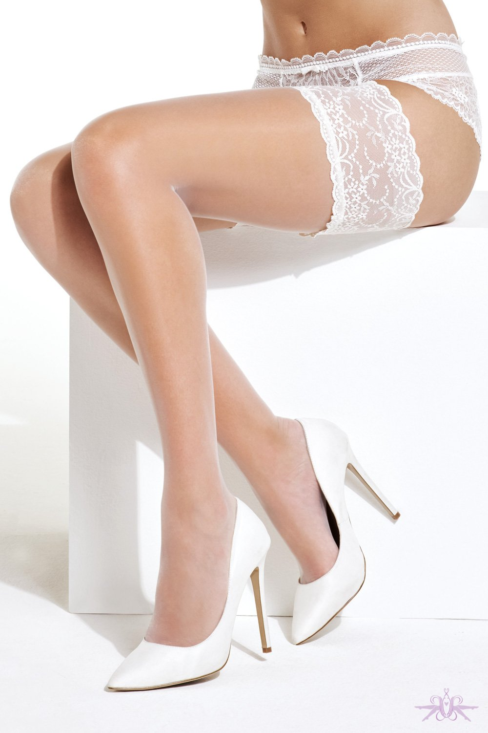 Charnos Bridal Lace Hold Ups