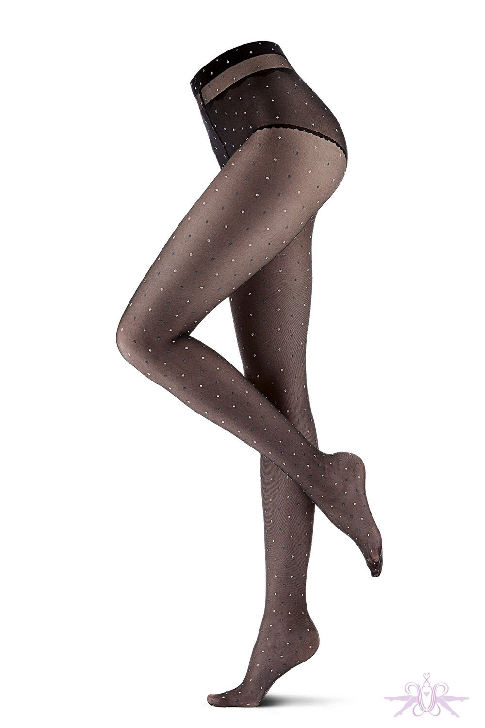 Oroblu Bicolor Dot Tights - The Hosiery Box