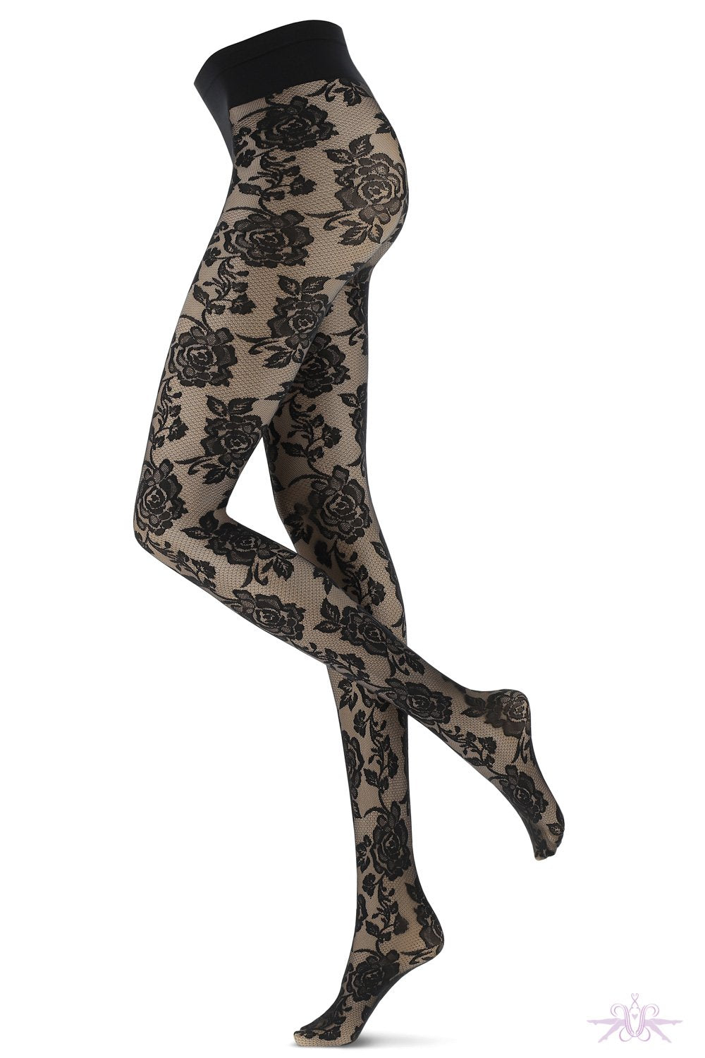 Oroblu Bicolour Lace Tights