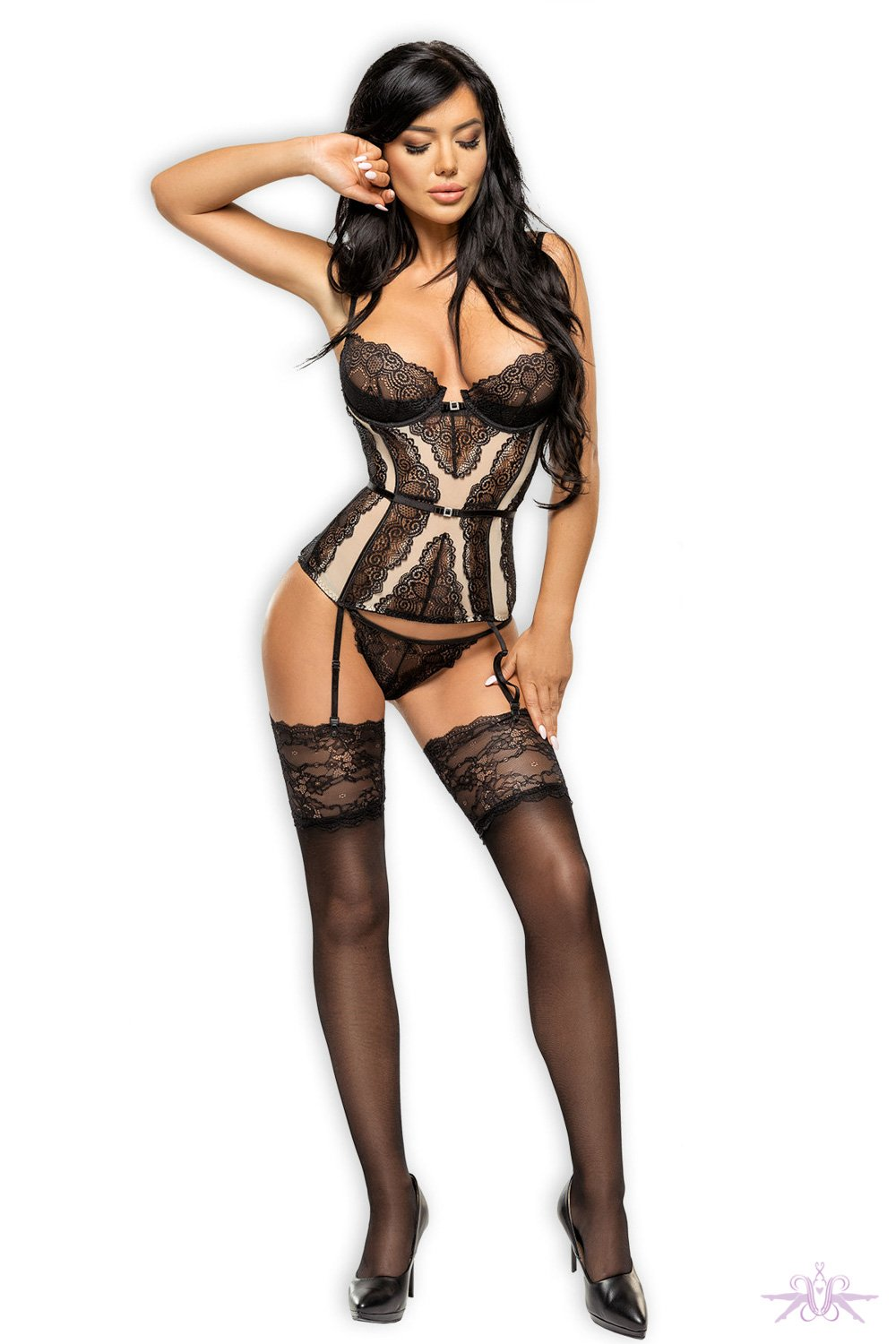 Beauty Night Nude/Black Ravenna Corset