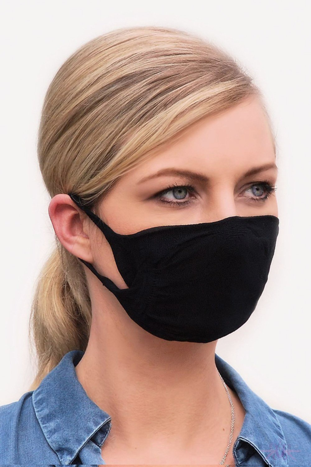 Gabriella Black Reusable Mask with Filter