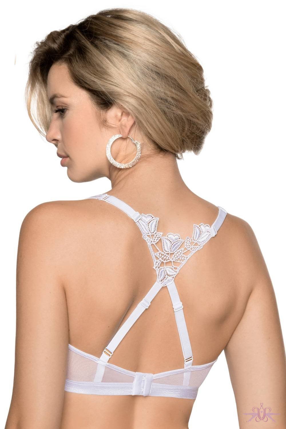 Roza Lisbet White Triangle Bra