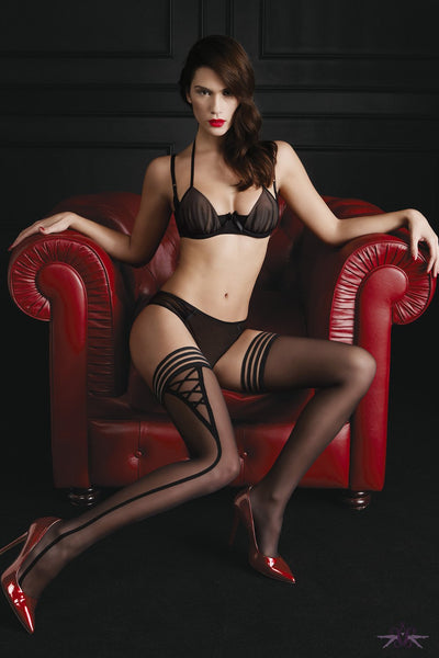 Oroblu Sensual Hold Ups - The Hosiery Box