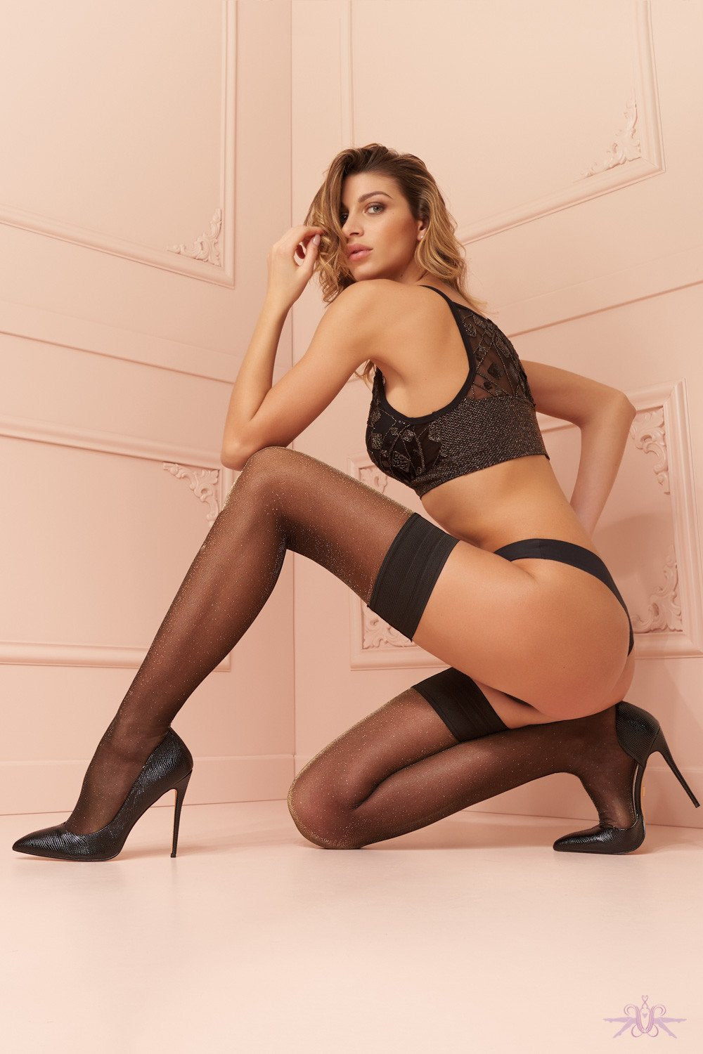 Trasparenze Vlinder Hold Ups - The Hosiery Box