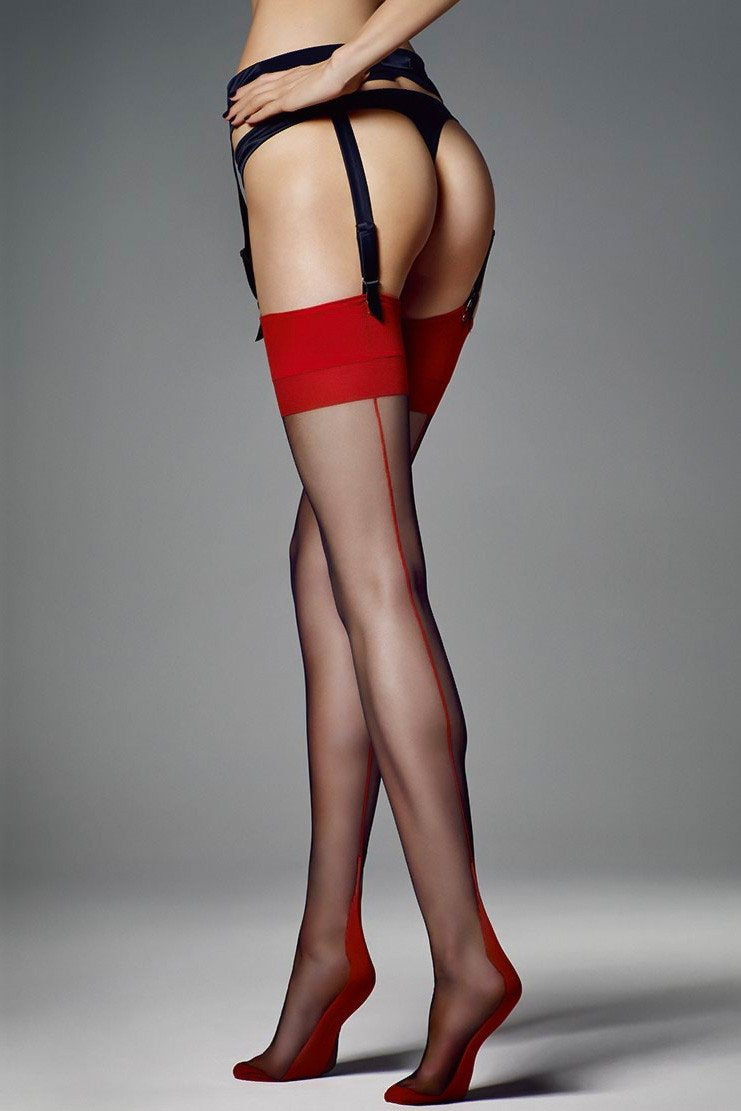Veneziana Leticia Seamed Stockings - The Hosiery Box