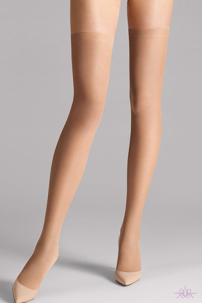 e53b3bcdfd5ef Wolford Fatal 15 Seamless Stay Ups at The Hosiery Box: Luxury ...