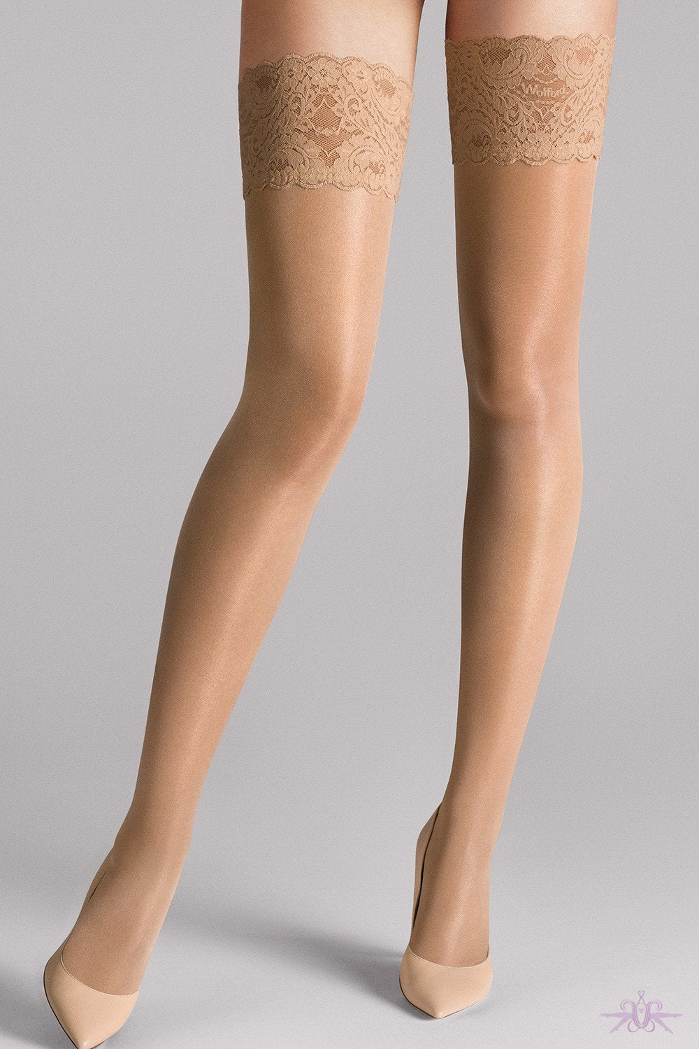 Wolford Satin Touch 20 Stay Ups - The Hosiery Box