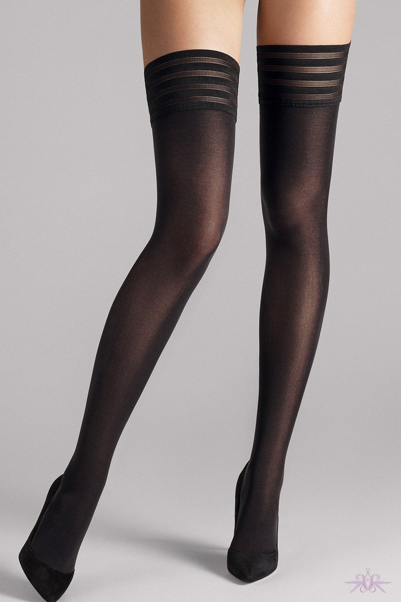 Wolford Velvet De Luxe 50 Stay up - The Hosiery Box