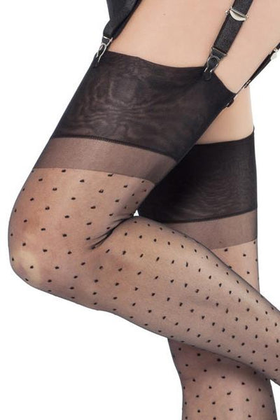Cervin Capri Plumetis 15 Stockings - The Hosiery Box