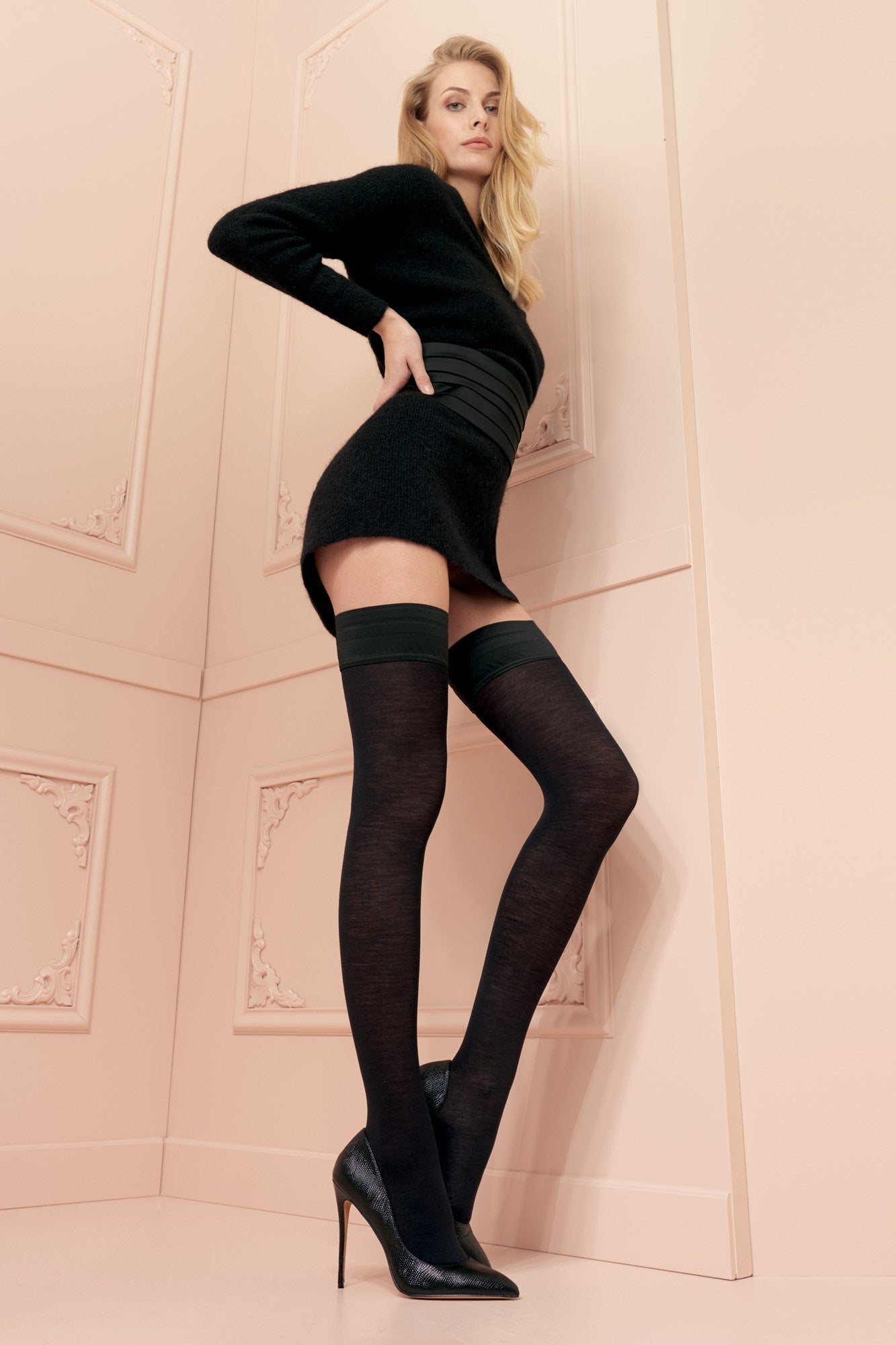Trasparenze Jennifer Merino Wool Hold Ups - The Hosiery Box