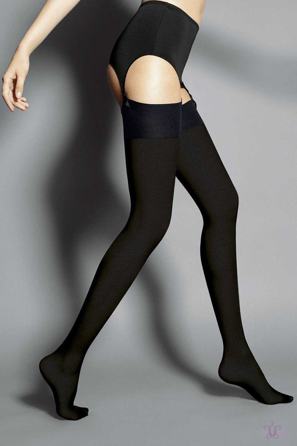 Veneziana Leila Opaque Stockings - The Hosiery Box