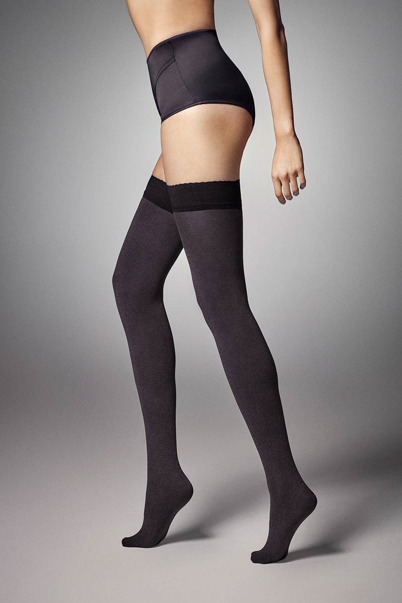 Veneziana Vera 60 Opaque Hold Ups - The Hosiery Box