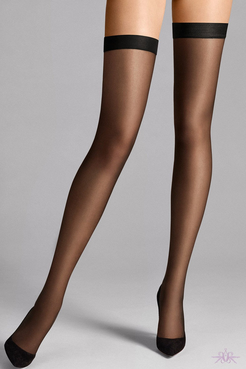 Wolford Individual 10 Stay Ups - The Hosiery Box