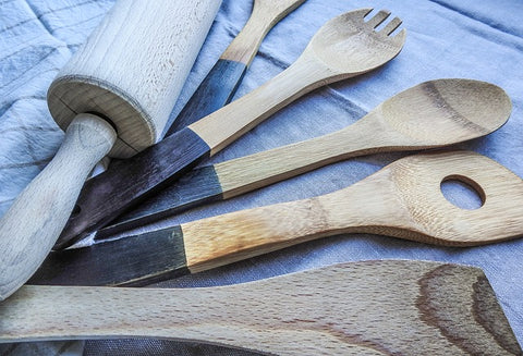 various wood kitchenware