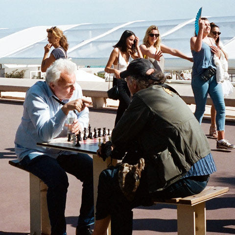 guys play chess outdoors