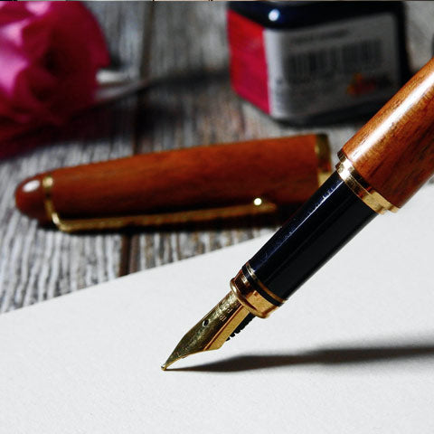 fountain pen made of wood