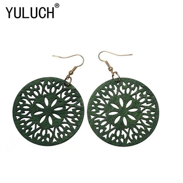 Floral Ornament Trendy Earrings