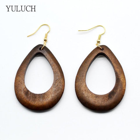 Hollow Natural Earrings