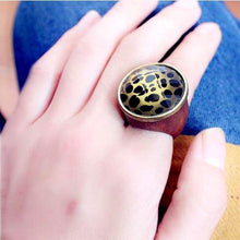 Leopard Wooden Ring  -  WoodenEarth