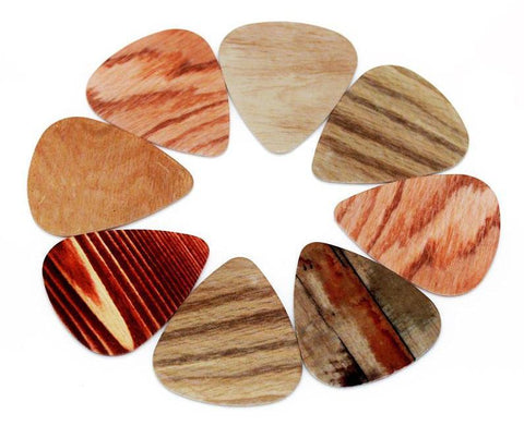 PVC Faux Wood Grain Plectrum (10pcs)