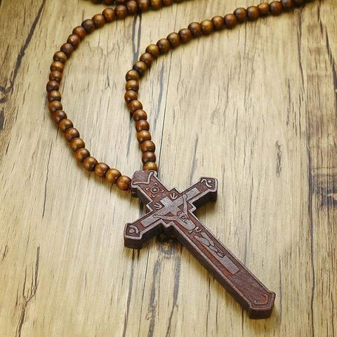 Rosary Necklace with Cross Pendant