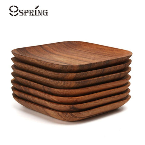 Square Wooden Plate