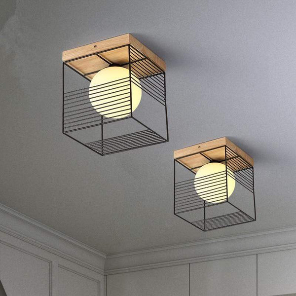 Wood Ceiling Light Fixture