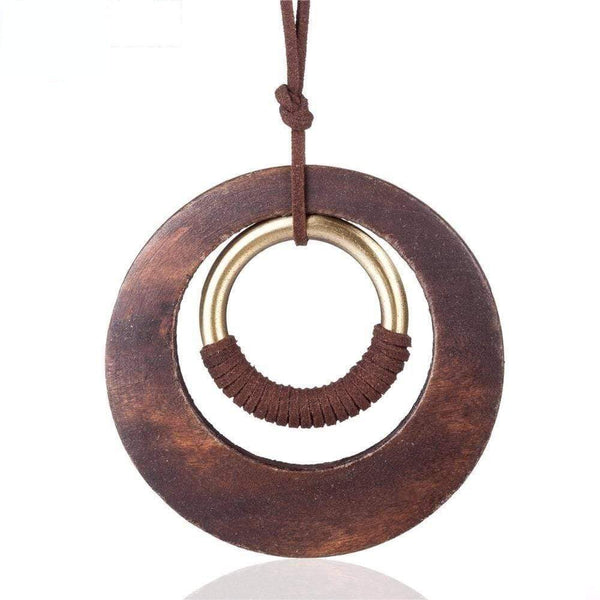 Wood Ring Necklace
