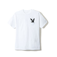 Hop Out White Pocket Tee