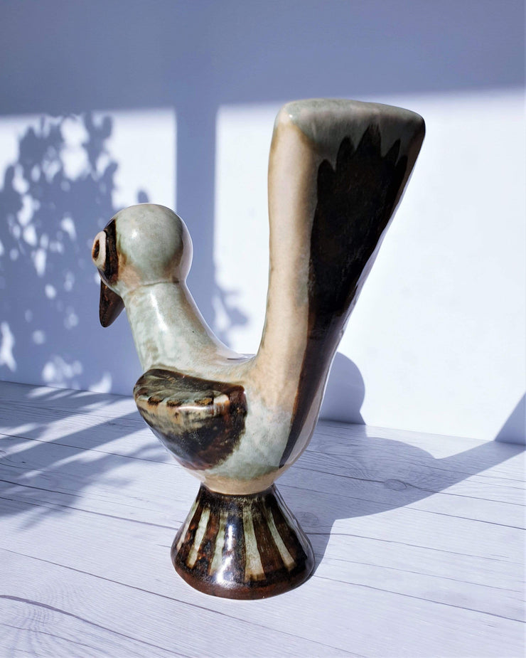 AnyesAttic Ceramic Gerd Hiort Petersen for Søholm, 'Nature of Bornholm' Palette Ceramic Bird Sculpture | Danish, 1970s