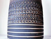AnyesAttic Ceramic Ulla Winblad for Alingsas Ceramics, Mid Century Modernist Enamelled Sgraffito Floor Vase | Swedish