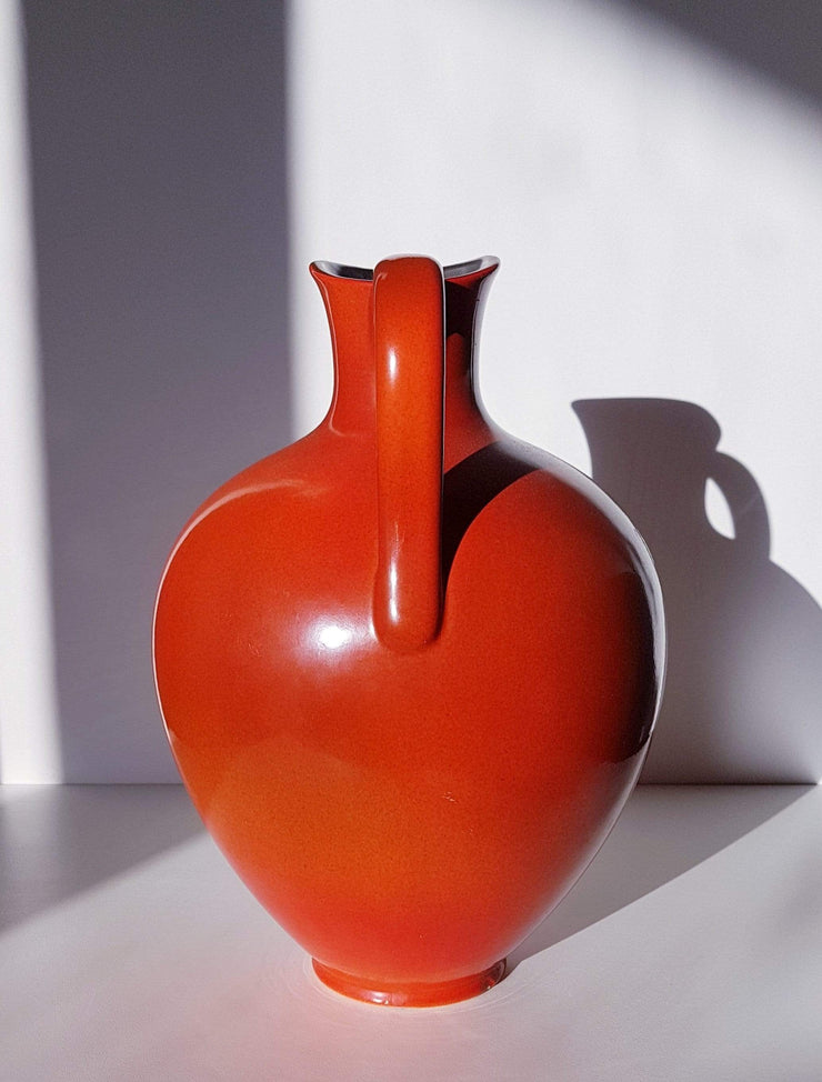 AnyesAttic Ceramic Ursula Fesca for Waechtersbach, Urania Series Ceramic Pitcher Vase, 1950s - 60s, West German