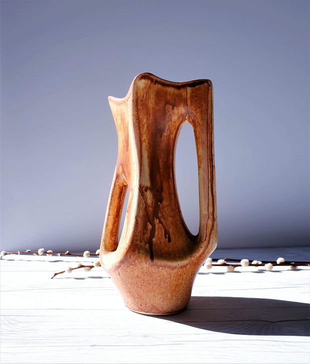 AnyesAttic Ceramic Vallauris, France, FPP by Jean Rossignol and Jean Calvas, Picasso Inspired Sculptural Vase | 1960s
