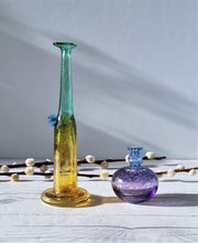 AnyesAttic Glass Bertil Vallien, (Kosta) Boda, Antikva and Wind Pipes Series, Duo of Handblown Frit Vases, 1970s