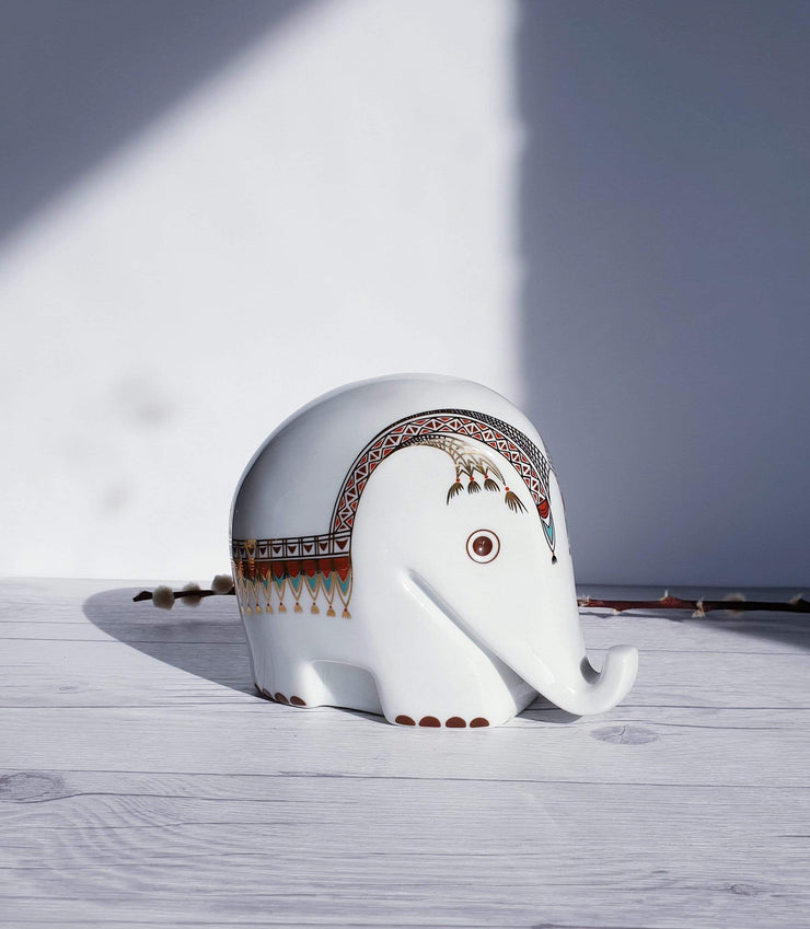 AnyesAttic Porcelain Drumbo Series by Luigi Colani from Höchst Decor, High Porcelain Elephant Money Box | 1970s-80s, Rare