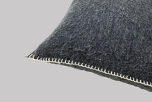 Load image into Gallery viewer, Recycled Wool Square Cushion - Carbon